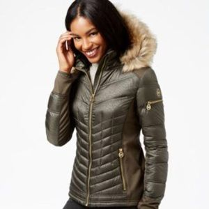 Michael Kors Green Puffer Jacket